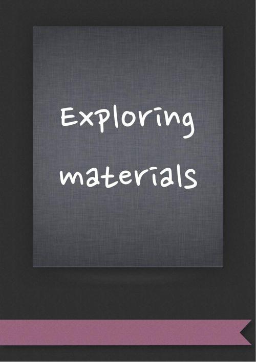 Exploring materials presentation