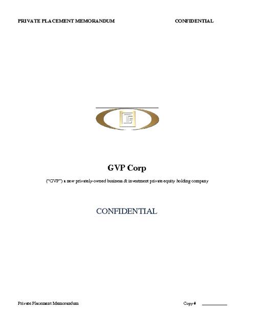 GVP Corp PPM