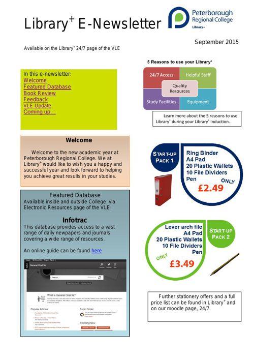 Library+ e-Newsletter
