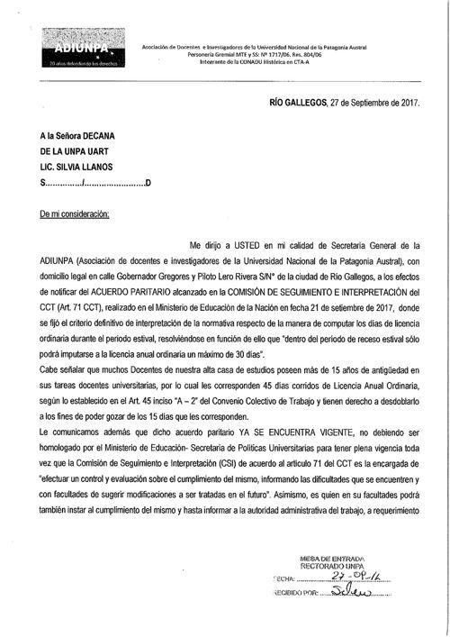 Nota Acuerdo Paritario - UART