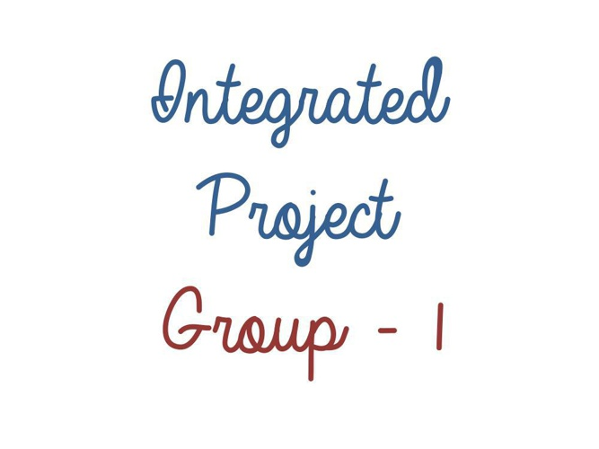 physics & maths - integrated project