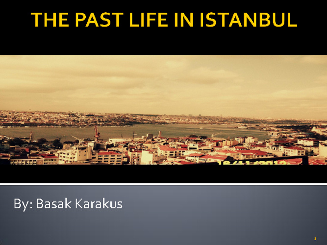 The Past Life In Istanbul