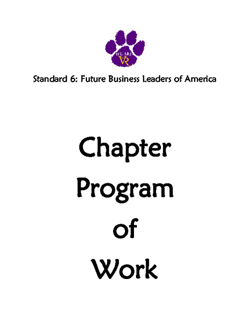 Standard 6: #46 Chapter Program of Work