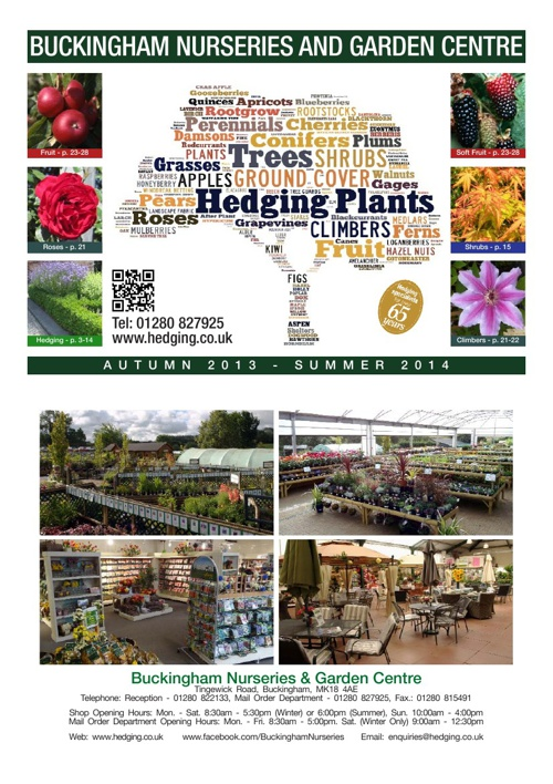 Buckingham Nurseries 2013-2014 Catalogue
