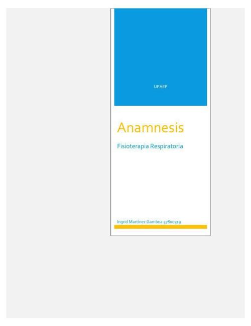 Anamnesis (2)