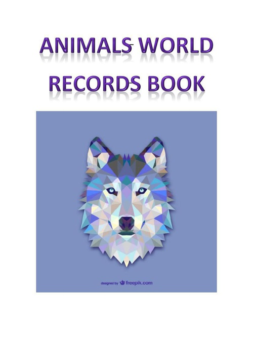 animal world records book
