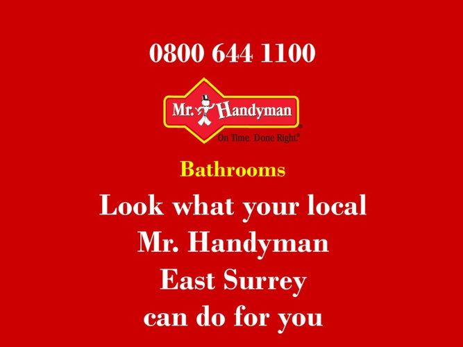 Bathrooms - Mr Handyman