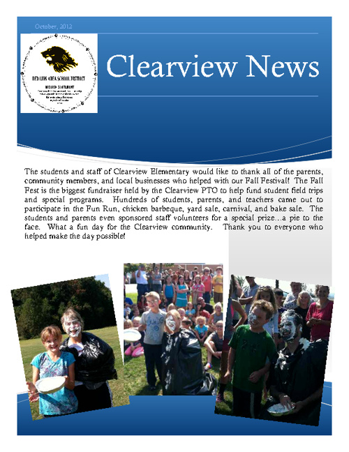Clearview Newsletter, October 2012