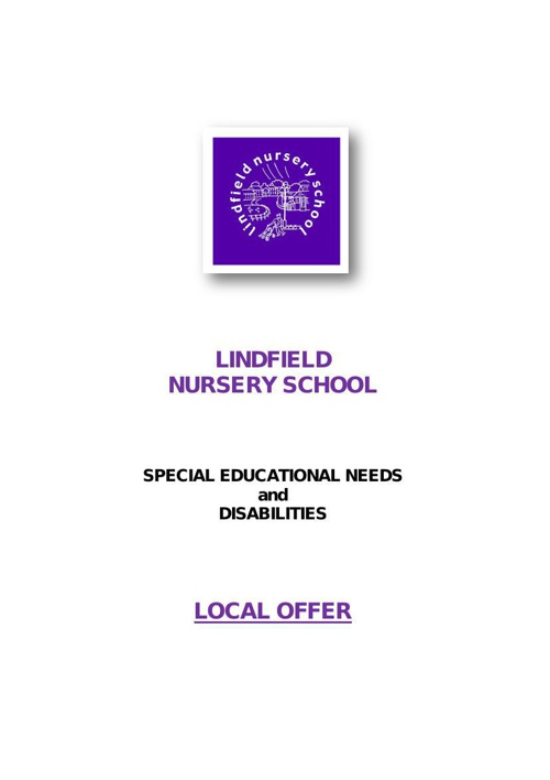 Lindfield Nursery Local Offer