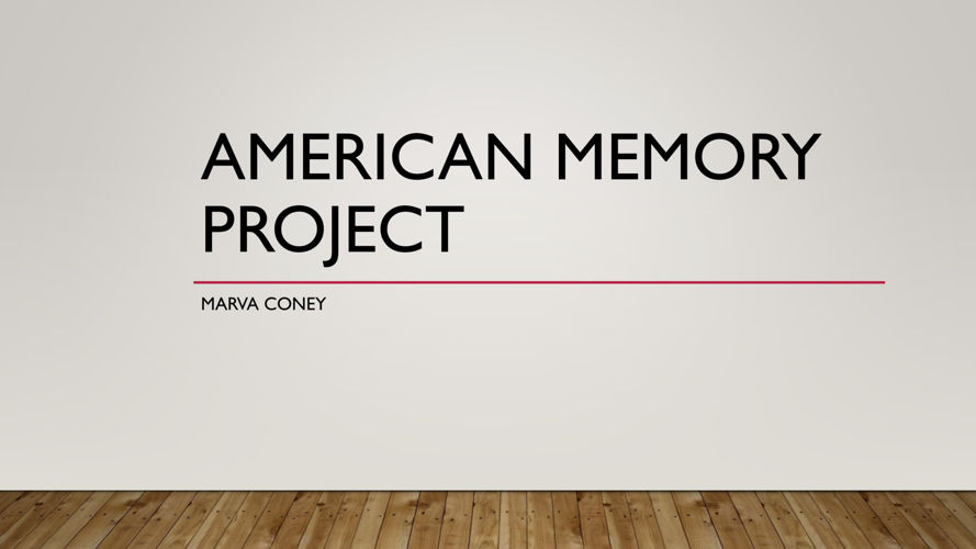 American memory project