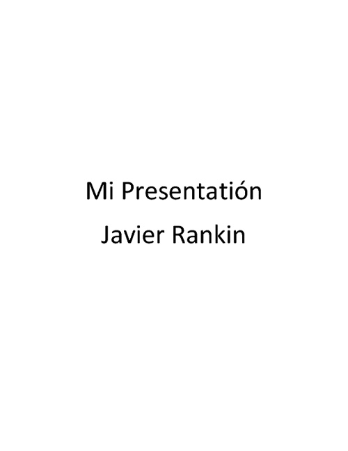Mi Presentation