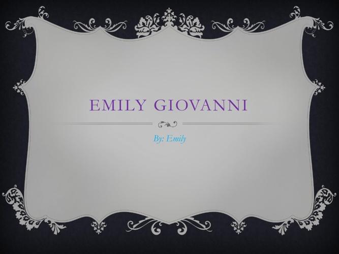 Emily Giovanni