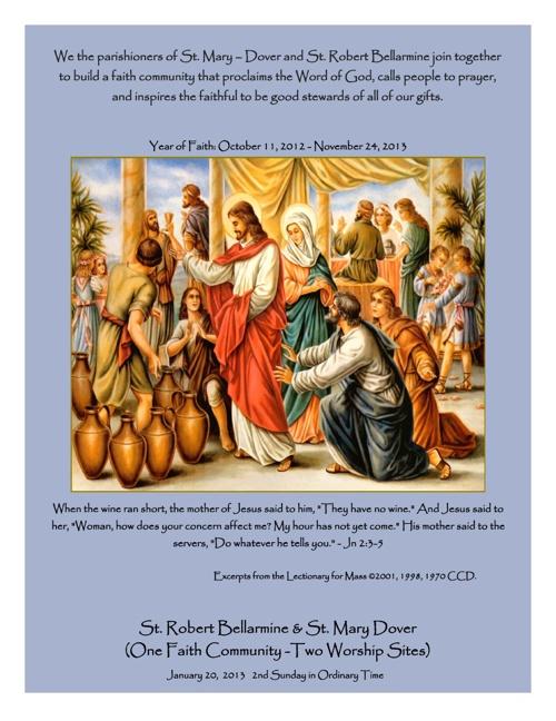 St. Mary & St Robert Bulletin