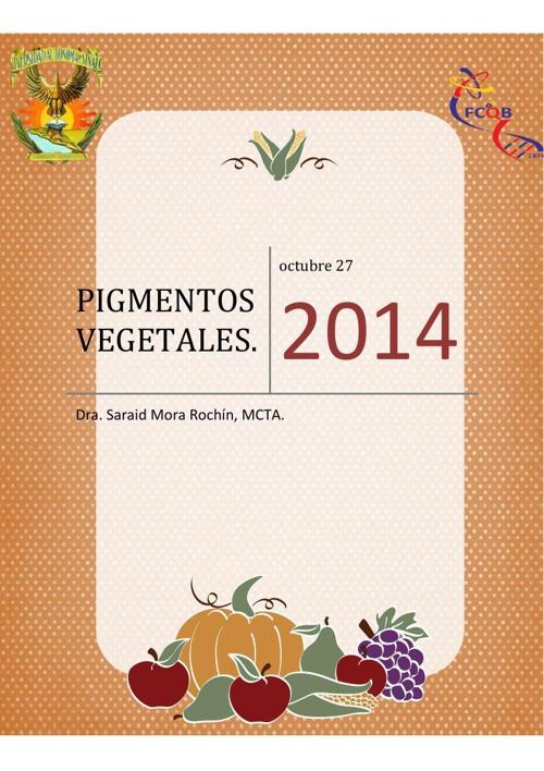 libro de pigmentos vegetales