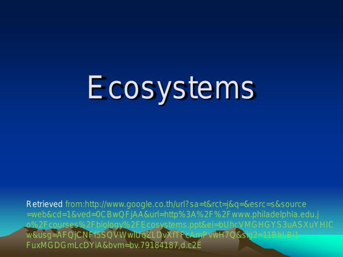 Ecosystems for Grade 3