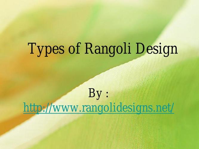 Types of Rangoli Designs