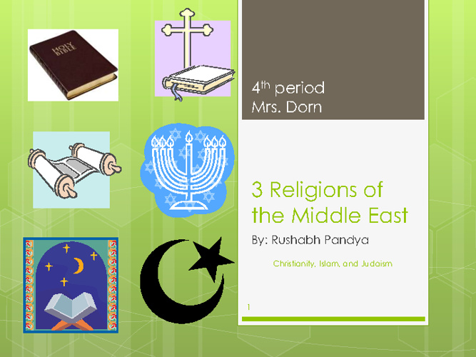 Middle East Religions Compare/ContrastRushabh Pandya 4th period
