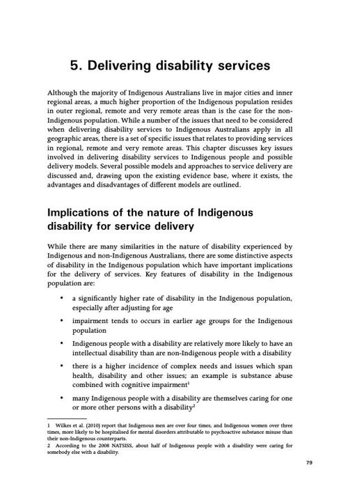 Delivering Disability Services
