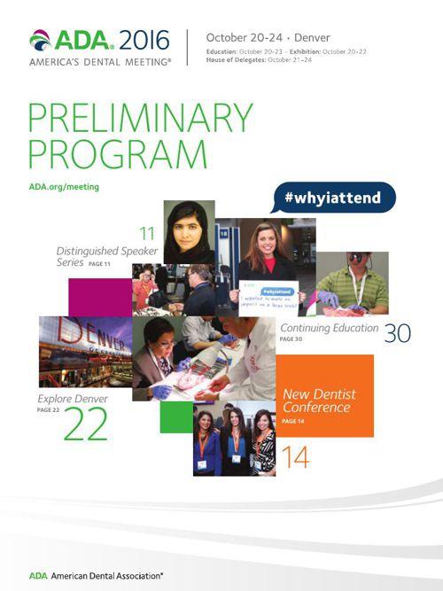 ADA 2016 Preliminary Program