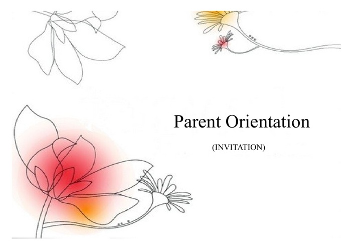 Invitation Card Parent Orientation 2013-14