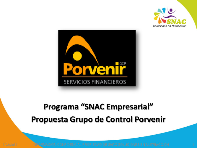 SNAC Empresa Saludable: Grupo Porvenir