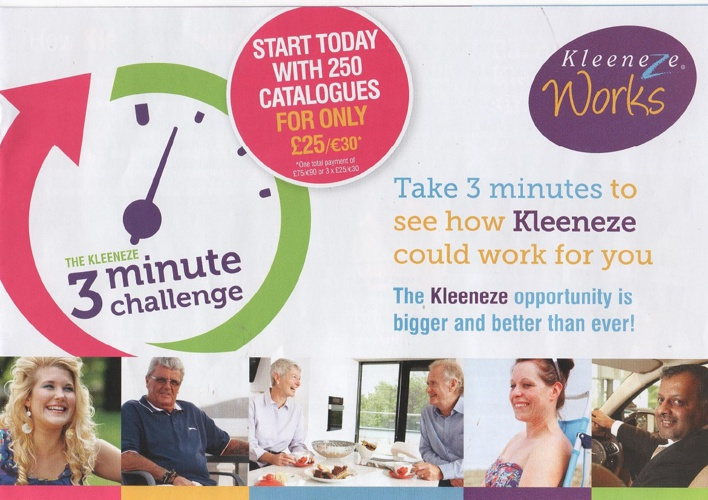 Kleeneze Business Opportunity in 3 minutes