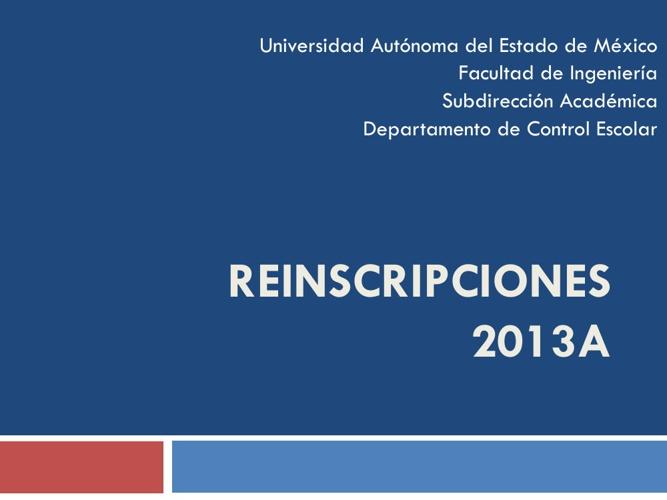 Guía de Reinscripción 2013A