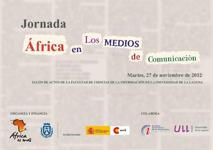 """I Jornadas """"África para periodistas"""""""