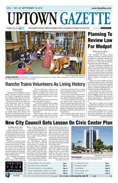 Uptown Gazette  |  September 19, 2014