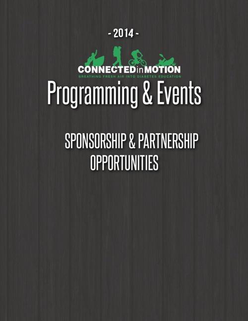 2014 Sponsorship & Partnership Opportunities