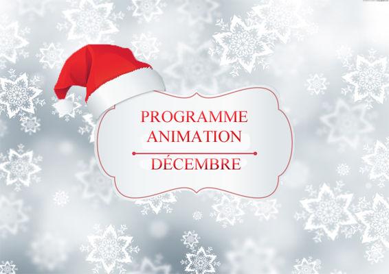 Programme Animation : Décembre 2015