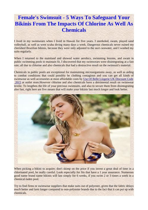 Female's Swimsuit - 5 Ways To Safeguard Your Bikinis From The Im