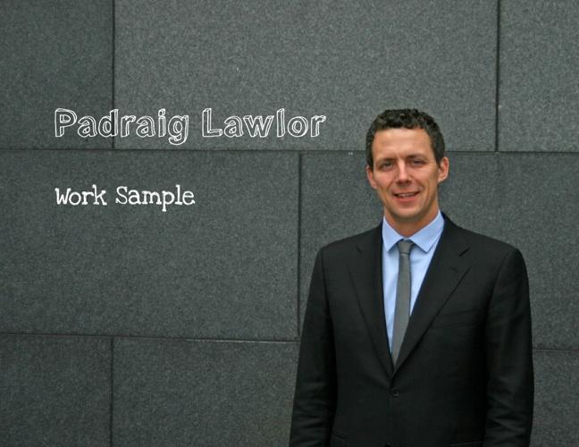 Padraig Lawlor Work Sample