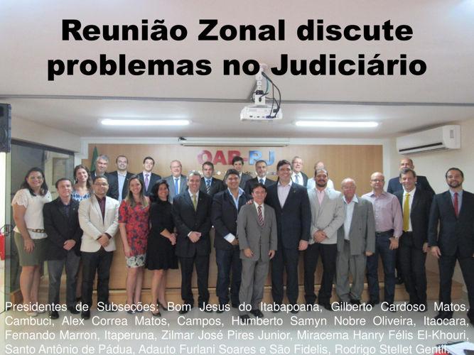 Reunião Zonal discute problemas no Judiciário