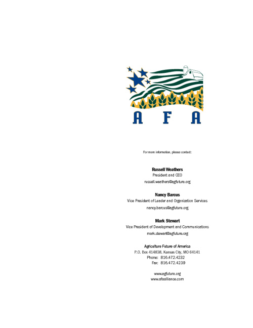 2012 AFA Donor Proposal Brochure