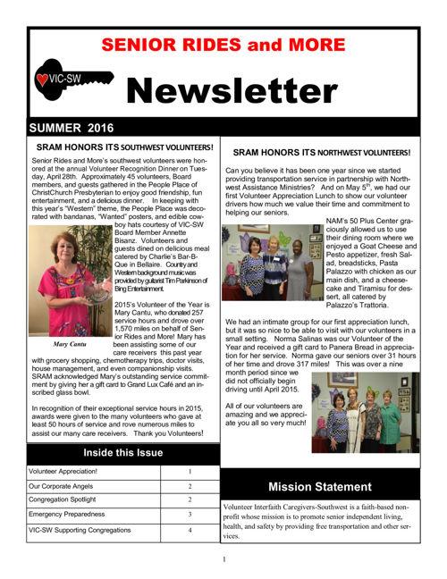 Summer 2016 Final - 6-6-16 Newsletter