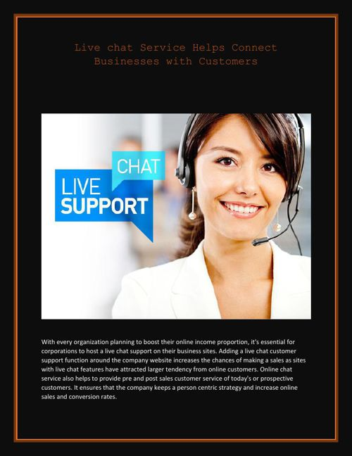 Live chat Service Helps Connect Businesses with Customers