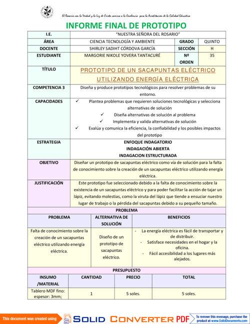 INFORME  FINAL DE PROTOTIPO