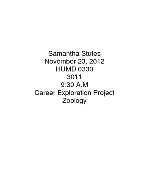 Career Exploration Porject