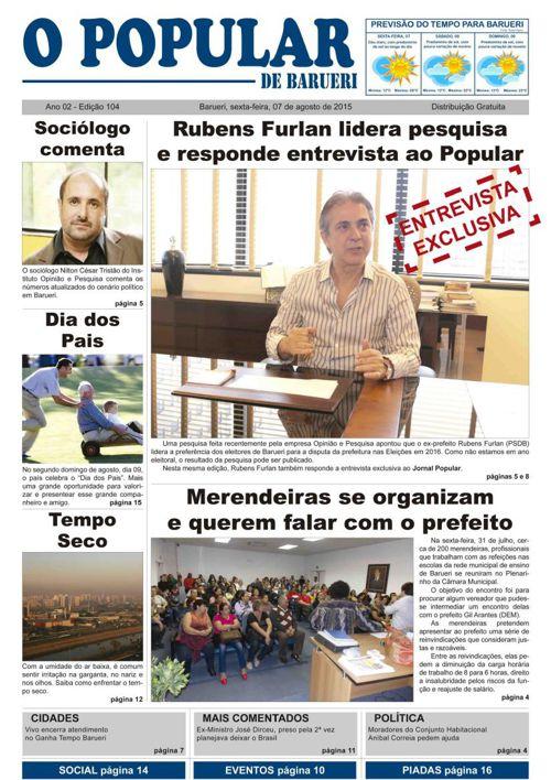 104ª edição do Jornal Popular de Barueri