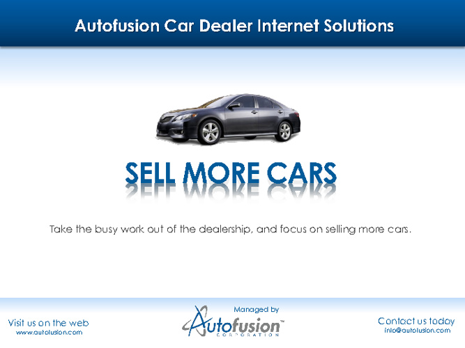Autofusion Marketing Booklet Test
