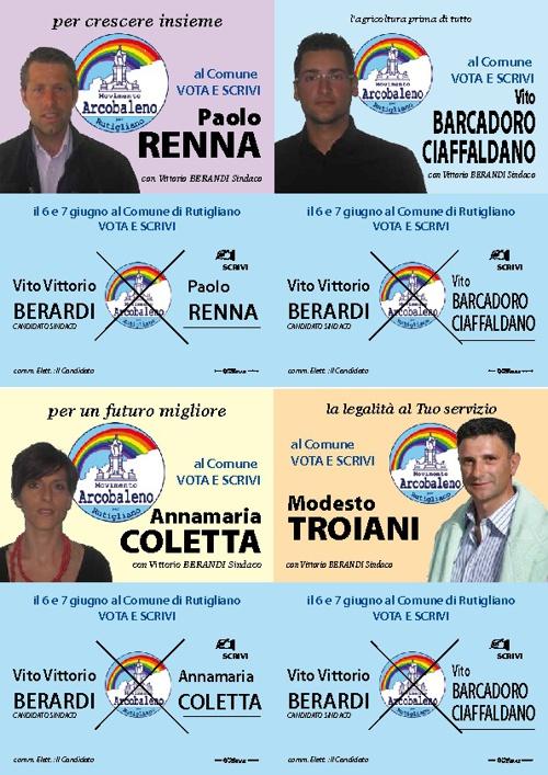 Movimento Arcobaleno campagna elettorale 2009