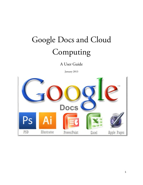 Cloud Computing and Google Drive