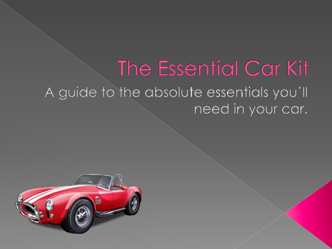 The Essential Car Kit