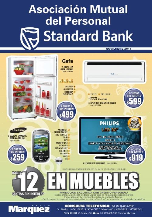 Ofertas Mutual Standard Bank noviembre 2011