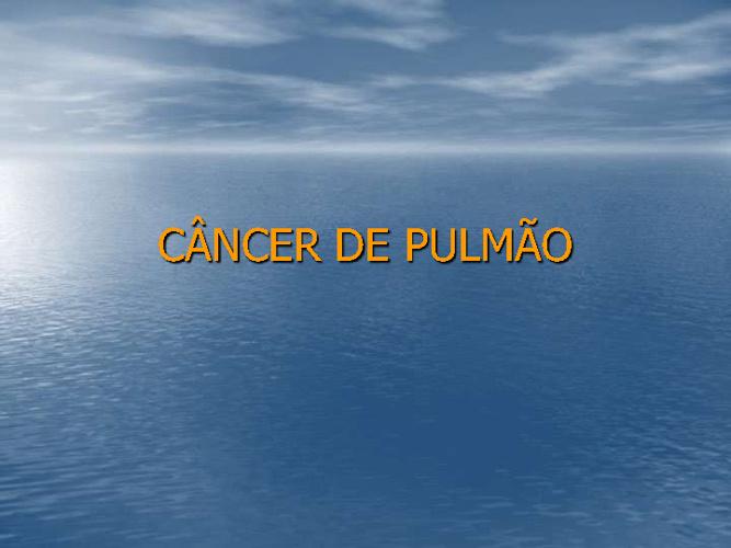 Câncer pnm e mediastino