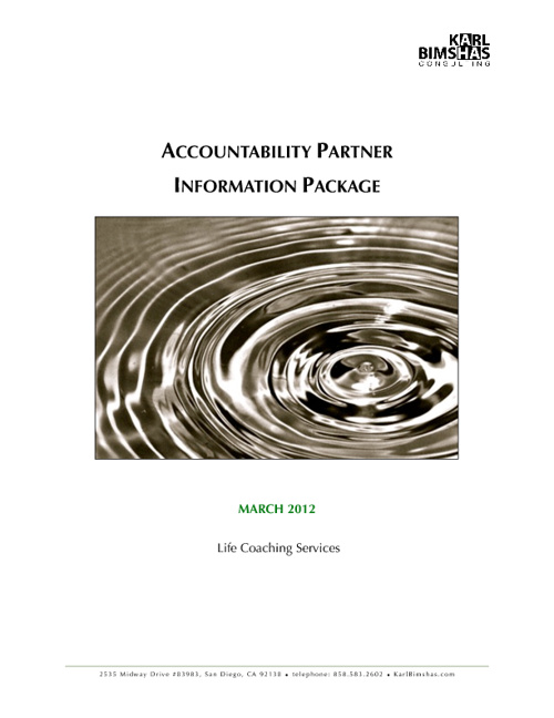 Accountability Partner Information Package