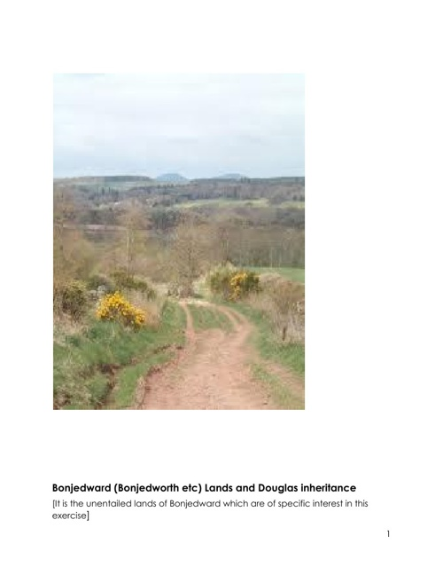 Lands of Bonjedward and the Douglas Inheritance
