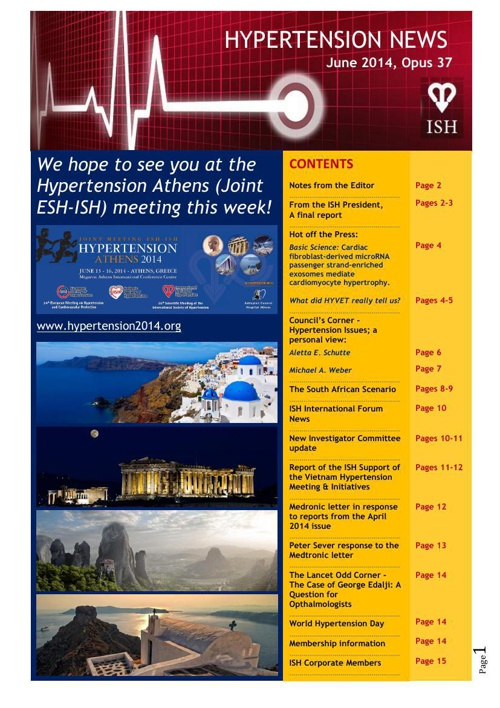 June 2014 Hypertension News