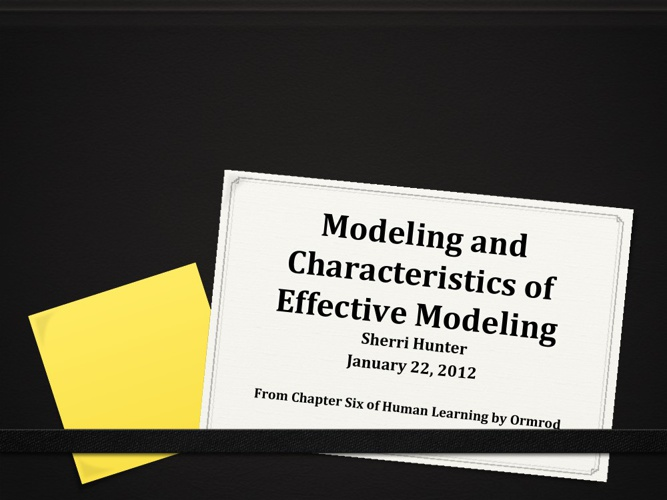 Modeling Class Presentation